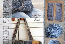 Crochet or knit denim bags from old jeans
