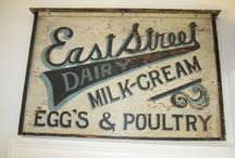 Antique Dairy Signs