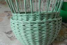 бортик корзинки плетение