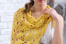 Bufandas y chales crochet