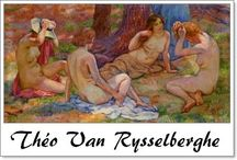 ⊱ Théo van Rysselberghe ⊰  /  ≻ Théo van Rysselberghe ~ Ghent, Belgium, 23 November 1862 – 14 December 1926, Saint-Clair, Var, France ≺  Théo van Rysselberghe  was a Belgian neo-impressionist painter, who played a pivotal role in the European art scene at the turn of the century.