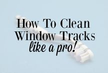 Cleaning windows track
