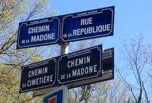 French Countryside and signs