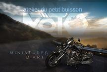 petit buisson moto / miniatures d'art motos
