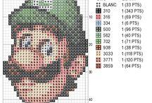 point de croix Mario bros