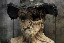 Creepy masks and costumes