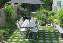 Small paved gardens