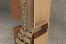 """Коллекция """"GOTLAND"""" / Дизайн мебели. Коллекция GOTLAND построена на эстетике старого оружия. Материалы: клен, кожа, сталь полированная нержавеющая, сталь вороненая."""
