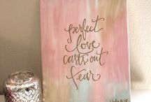 quote art on canvas