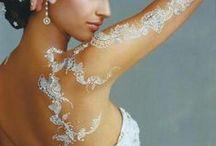 Боди арт невеста