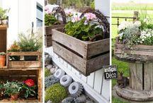 Idées déco pour le jardin / Le plein d'idées pour décorer votre jardin! Laissez-vous inspirer...