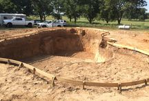 Romans - Project / Current swimming pool project under construction. Contemporary freeform  design.