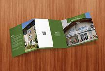 Real Estate Square Tri-fold Brochure