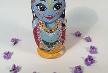 Nesting dolls Krishna - painted wooden dolls / Most of the dolls I made...