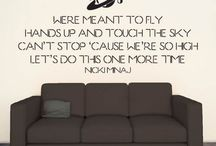 Song Lyric Wall Stickers / by Kate Elizabeth