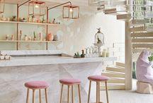 キッチン 白×ピンク