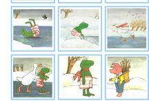 Thema Winter- Kikker in de kou