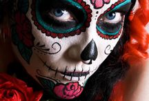 Dia de los Muertos / Day of the Dead pictures - beautiful to look at and tons of costume and makeup ideas