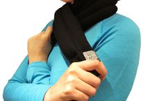 Hot/cold wellbeing / Products to heat or chill for comfort. Scarf, collar, slippers and hearts.