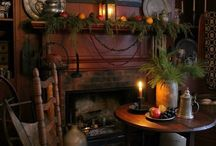 Simple christmas decorating ...for primitive country