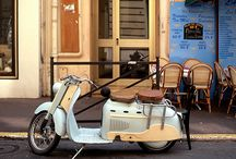 Cars, yachts, vespas and bicycles / Cars, vespas, yachts, motorcycles, bicycles