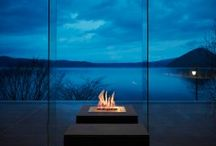 Landscape Fireplace Ideas / Simple to clean, easy to use and great for the environment. Landscape architects are turning to EcoSmart Fires to create aesthetic tension between nature's elements, with fire used to breathe life into poolscapes, outdoor rooms and garden features.   https://ecosmartfire.com.au/ideas/landscape/
