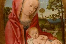 Scuola di Hugo Van Der Goes: Madonna. Bayeux, museo Baron Gerard / Scuola di Hugo Van Der Goes: Madonna. Bayeux, museo Baron Gerard. Foto settembre 2014
