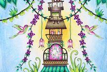 Coloring books (Johanna Basford)
