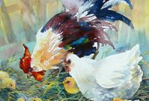 Watercolor farm animals