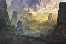 Fantasy environment concept art