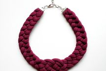 Jersey yarn crochet jewellery