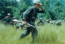 Vietnam / The 1st Infantry Division was one of the first two divisions sent to defend the Republic of Vietnam in 1965. For five years the Big Red One fought main force Viet Cong (VC) and regular North Vietnamese Army (NVA) forces in the jungles northwest of Saigon. It suppressed enemy infiltration along the Highway 13 corridor to Cambodia and sought to clear the enemy from its bases in the heavy jungle of the Iron Triangle and near the Michelin Plantation.