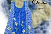 Crochet Dresses / Crochet dresses are limitless as they move beautifully to accommodate different shapes and sizes, transforming into gorgeous tops when our angels grow taller.