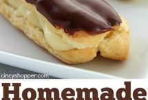 Home made eclairs