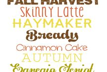 Thanksgiving Fonts, Clipart, and Design
