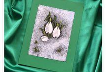 Felicitari pictate/ Painted Cards / Felicitari pictate realizate de Lili Negulescu.  Painted Cards by Lili Negulescu.