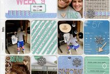 Project Life by The Sparklers / Pocket style pages by the design team