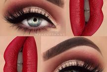 lip and eyes for makeup