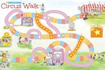 Circus Walk Game / The NEW Circus Walk game helps children learn good decision-making, patience and planning ahead!  If you love the books, Can't-Wait Willow! and Must-Have Marvin!, you'll love playing the game with your entire family (ages 4+)!  Get yours at www.ShineBrightKids.com.