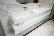 Double, elegant washbasin for couple.