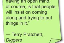 Terry Pratchett / Terry Pratchett books sayings quote movie disc world