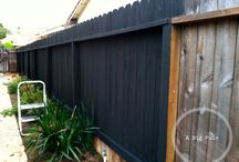 Painted Wooden Fence Ideas