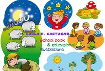 Carla's illustrations for little kids / Some pictures by me :)