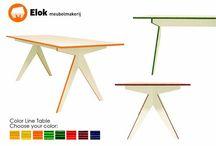 Tafels op maat / Tafels ontworpen en vervaardigd bij Elok meubelmakerij.