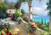 Вид на море в живописи