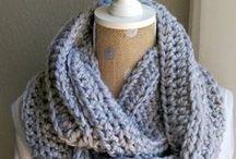 Crochet scarf, cowl & shawls