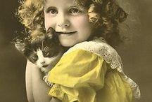 С животными_ретро открытка