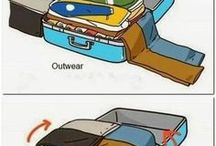 Suitcases packing