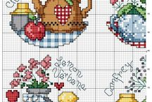 Kitchen pattern cross stitch