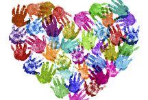 Basteln mit Kindern / Fingerfarben